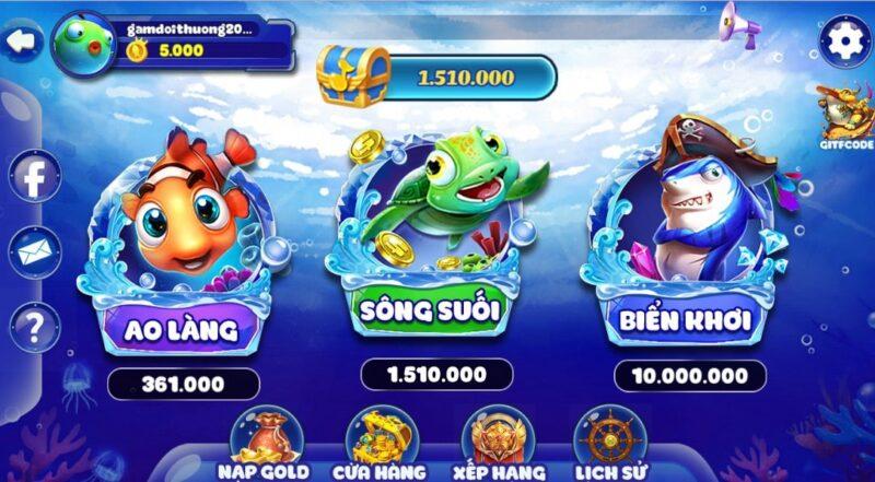 Bắn cá đổi thưởng - chơi game kiếm tiền bằng thẻ cào thật