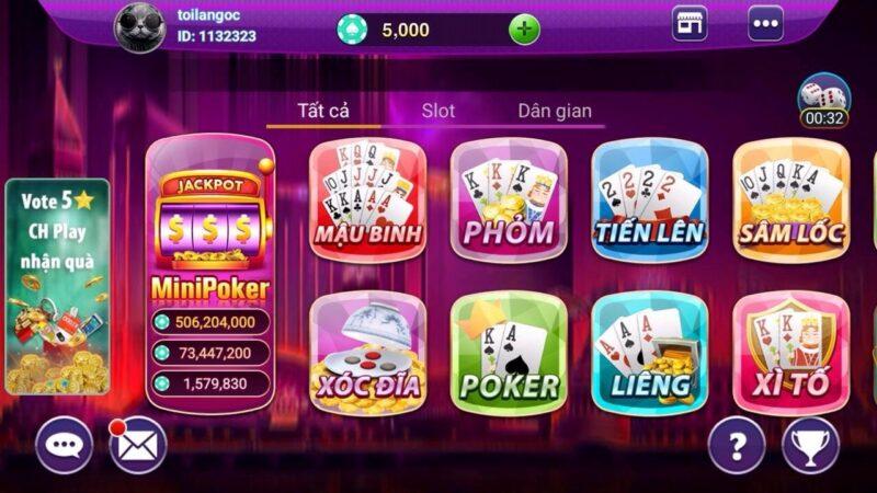 Các thể loại game đánh bài trực tuyến nhận thưởng cao
