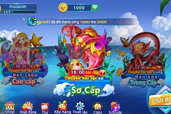 tính năng cổng game bắn cá h5