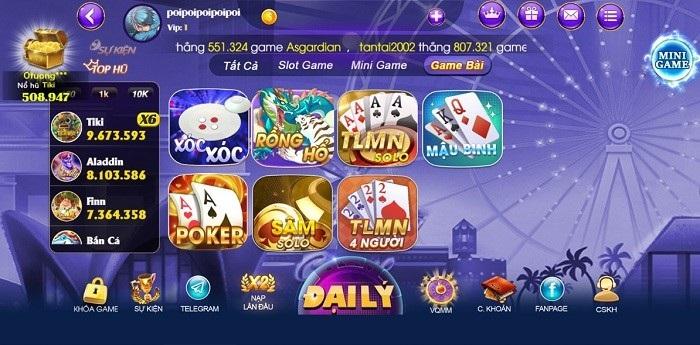 Các game bài bất hủ tại Socvip