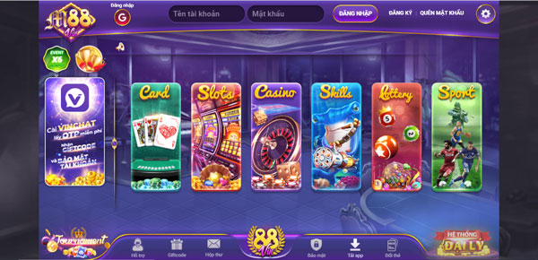 giao diện game 1m88 vin