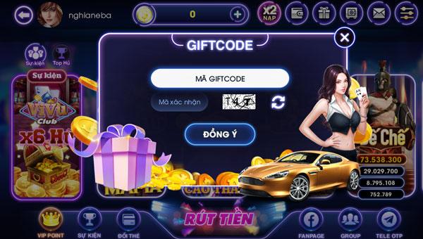 tặng giftcode vivu club