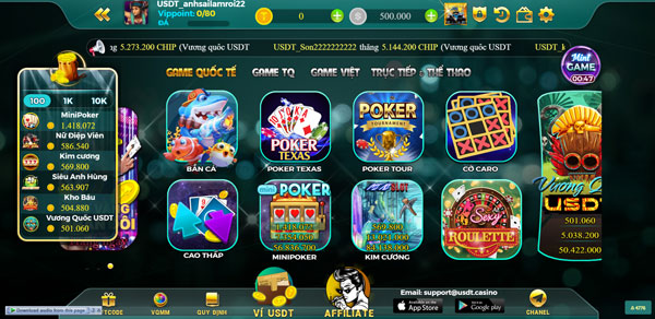 giao diện usdt casino