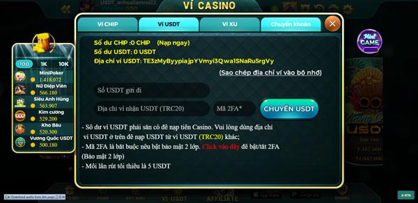 nạp tiền usdt casino